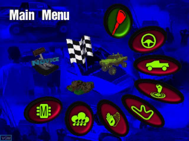 Image du menu du jeu Hardcore 4x4 sur Sega Saturn