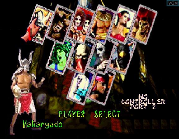Image du menu du jeu Battle Monsters sur Sega Saturn