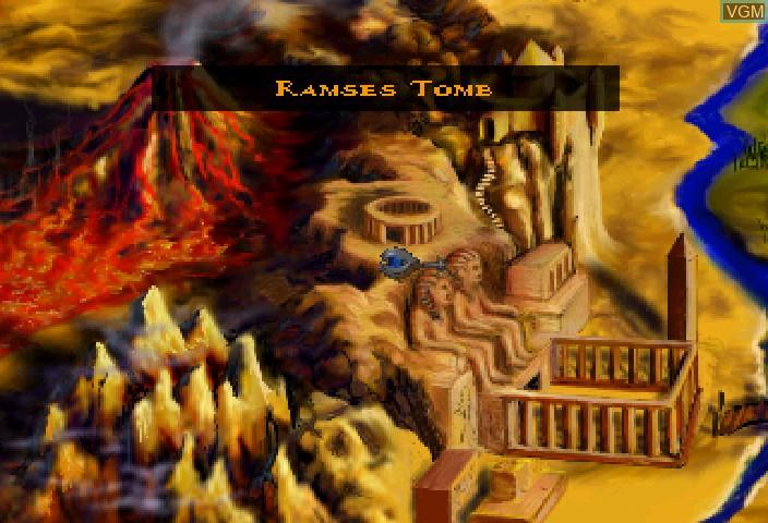 Image du menu du jeu Exhumed sur Sega Saturn