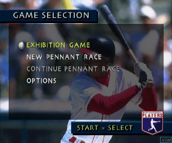 Image du menu du jeu 3D Baseball sur Sega Saturn