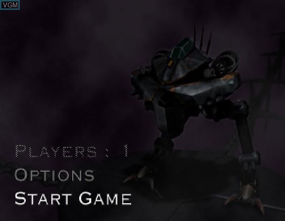 Image du menu du jeu Amok sur Sega Saturn