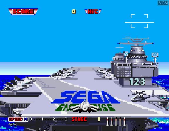 Image du menu du jeu Afterburner II sur Sega Saturn