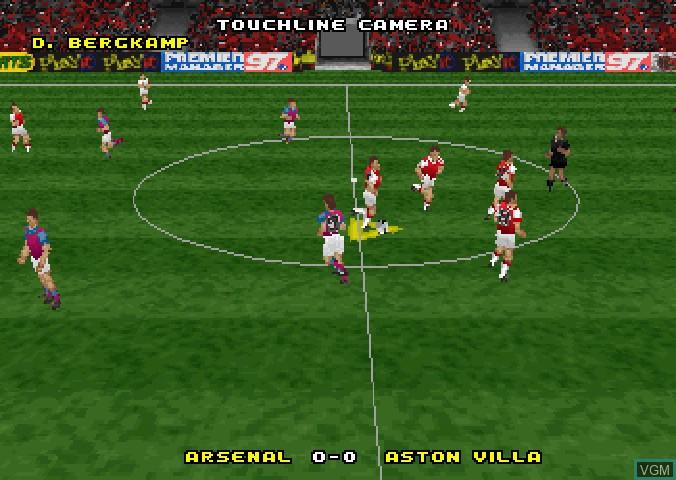 Image du menu du jeu Actua Soccer - Club Edition sur Sega Saturn