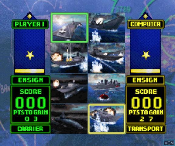 Image du menu du jeu Battle Stations sur Sega Saturn
