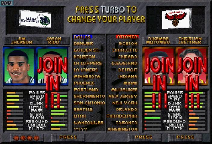 Image du menu du jeu NBA Jam Extreme sur Sega Saturn