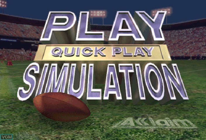 Image du menu du jeu NFL Quarterback Club '97 sur Sega Saturn