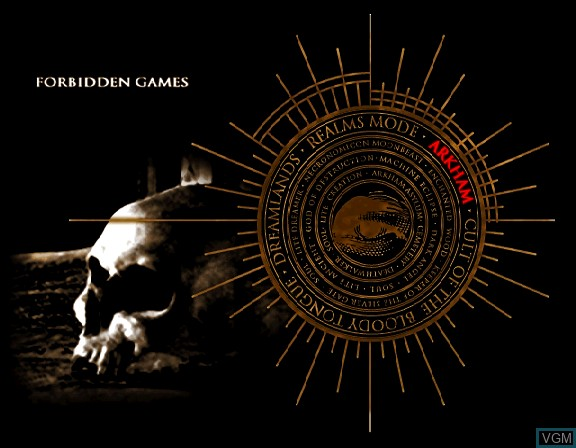 Image du menu du jeu Digital Pinball - Necronomicon sur Sega Saturn