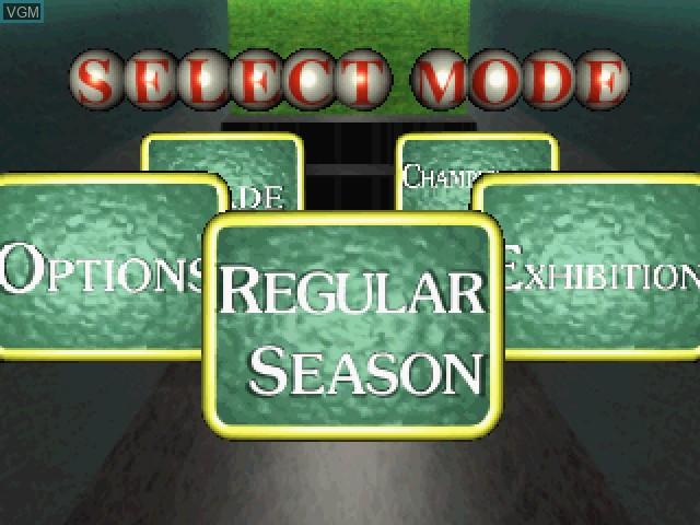 Image du menu du jeu Bases Loaded '96 - Double Header sur Sega Saturn