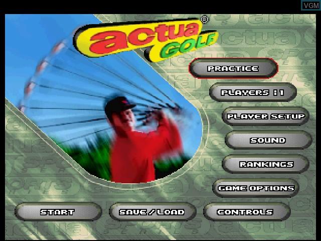 Image du menu du jeu Actua Golf sur Sega Saturn