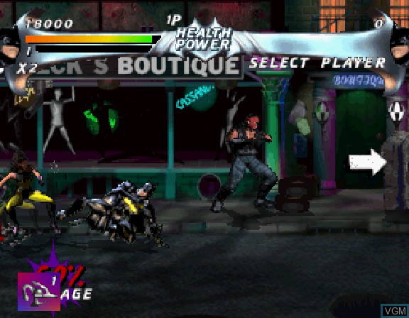 Image in-game du jeu Batman Forever - The Arcade Game sur Sega Saturn