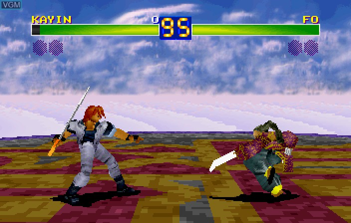 Image in-game du jeu Toushinden S sur Sega Saturn