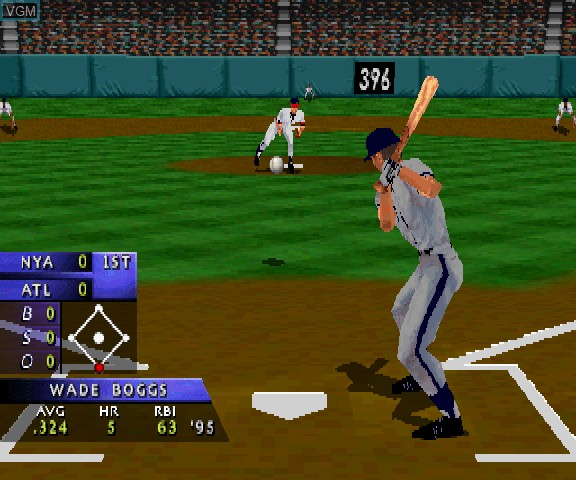 Image in-game du jeu 3D Baseball sur Sega Saturn