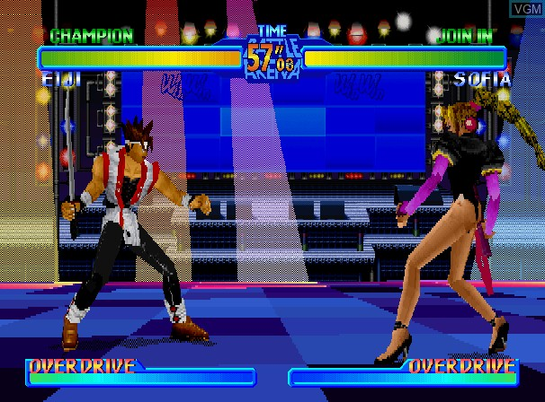 Image in-game du jeu Battle Arena Toshinden URA - Ultimate Revenge Attack sur Sega Saturn