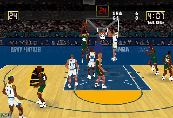 Image in-game du jeu NBA Action sur Sega Saturn