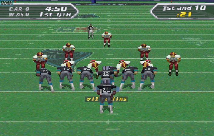 Image in-game du jeu NFL Quarterback Club '97 sur Sega Saturn