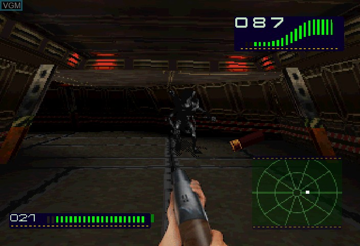 Image in-game du jeu Alien Trilogy sur Sega Saturn