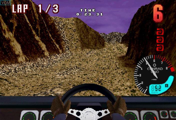 Image in-game du jeu Hardcore 4x4 sur Sega Saturn