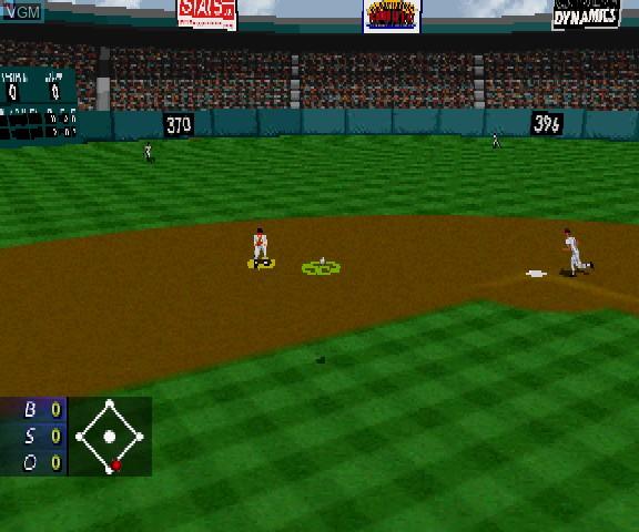 Image in-game du jeu 3D Baseball sur Sega Saturn