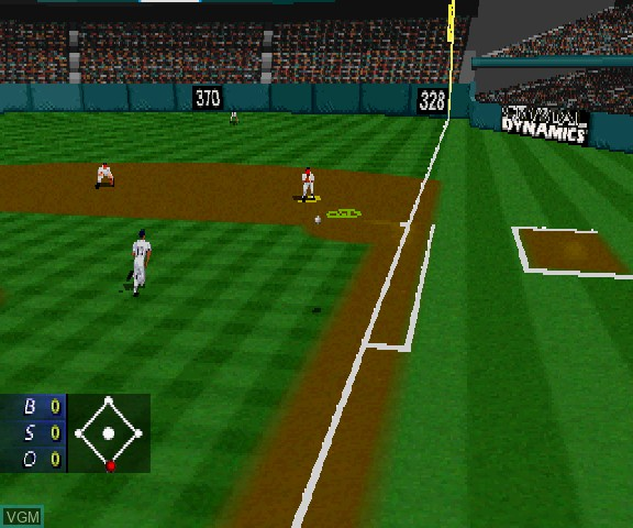 Image in-game du jeu 3D Baseball The Majors sur Sega Saturn
