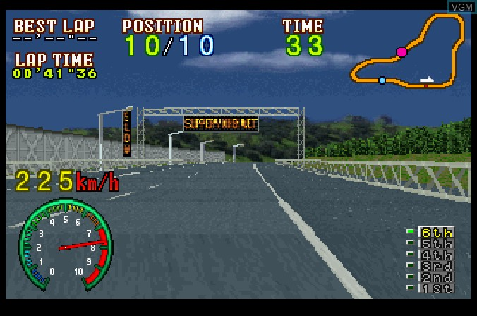 Image in-game du jeu Highway 2000 sur Sega Saturn