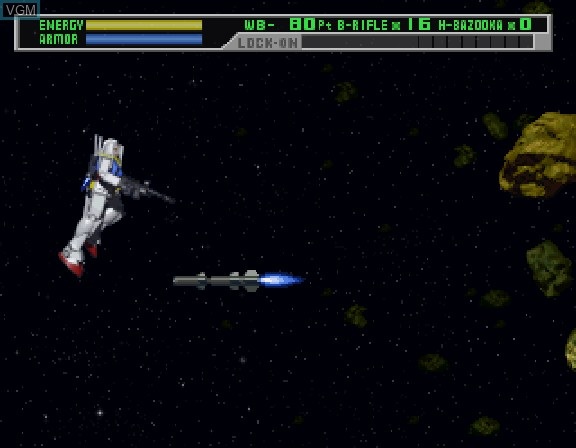 Image in-game du jeu Kidou Senshi Gundam sur Sega Saturn