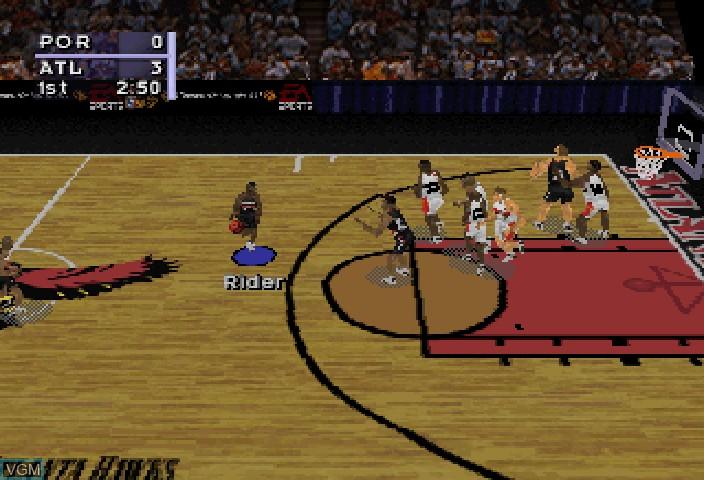 Image in-game du jeu NBA Live 97 sur Sega Saturn