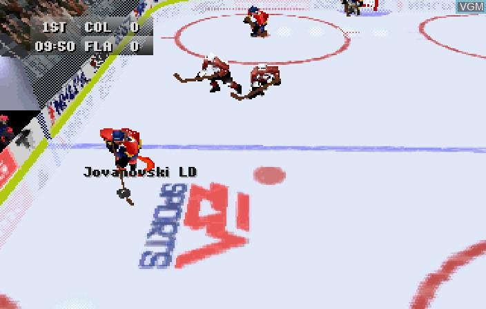 Image in-game du jeu NHL 97 sur Sega Saturn