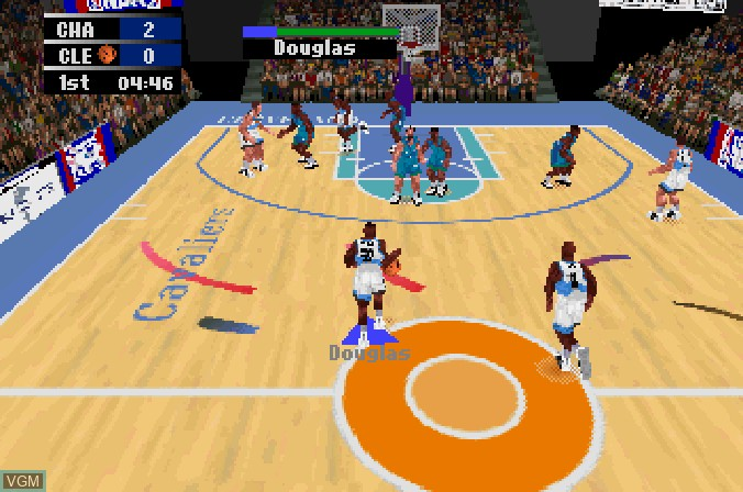 Image in-game du jeu NBA Action '98 sur Sega Saturn