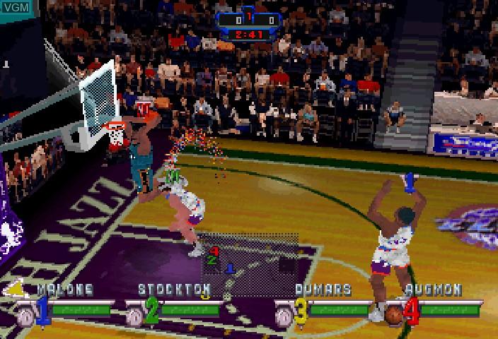 Image in-game du jeu NBA Jam Extreme sur Sega Saturn