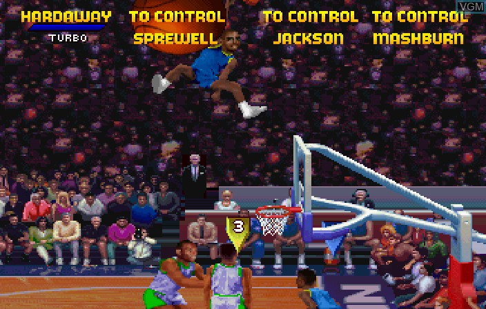 Image in-game du jeu NBA Jam Tournament Edition sur Sega Saturn
