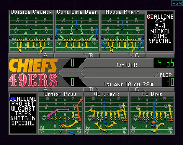 Image in-game du jeu NFL '97 sur Sega Saturn