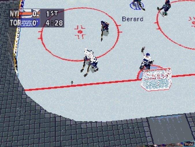 Image in-game du jeu NHL All-Star Hockey '98 sur Sega Saturn