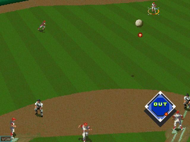 Image in-game du jeu Bases Loaded '96 - Double Header sur Sega Saturn