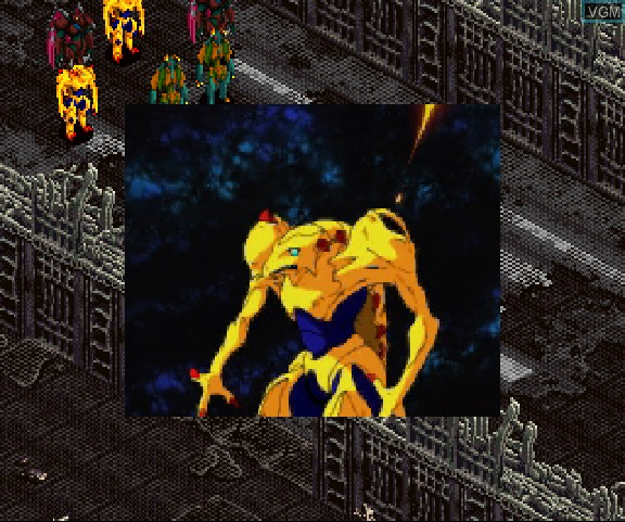 Image in-game du jeu BackGuiner - Yomigaeru Yuusha-tachi - Hishou-hen - Uragiri no Senjou sur Sega Saturn