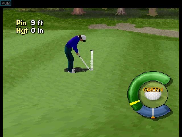 Image in-game du jeu Actua Golf sur Sega Saturn