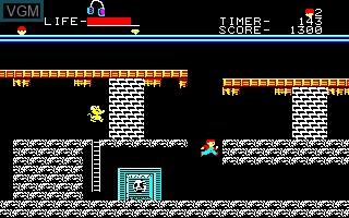 Image in-game du jeu Goonies, The sur Sharp X1