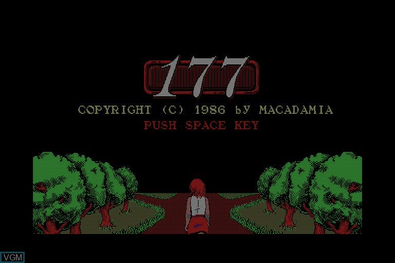 Image de l'ecran titre du jeu 177 sur Sharp X68000