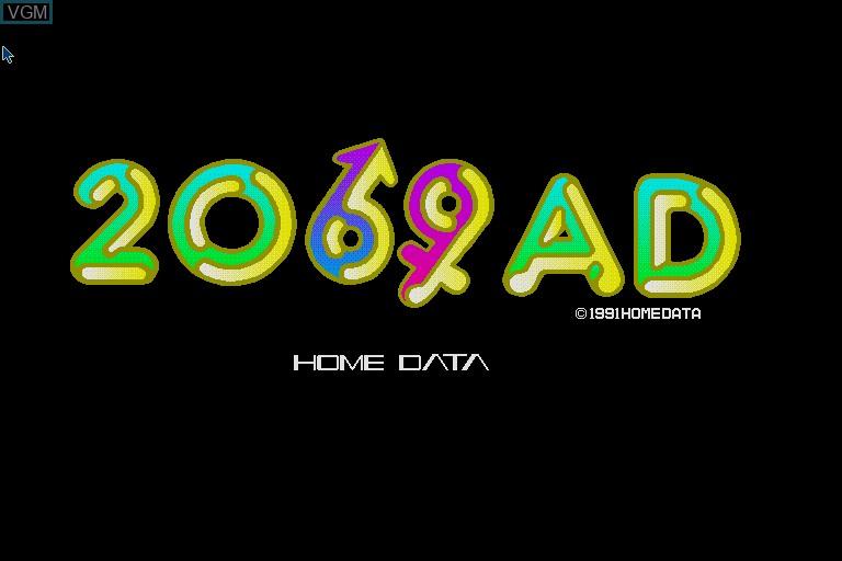 Image de l'ecran titre du jeu 2069AD sur Sharp X68000