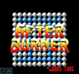 Image de l'ecran titre du jeu After Burner II sur Sharp X68000