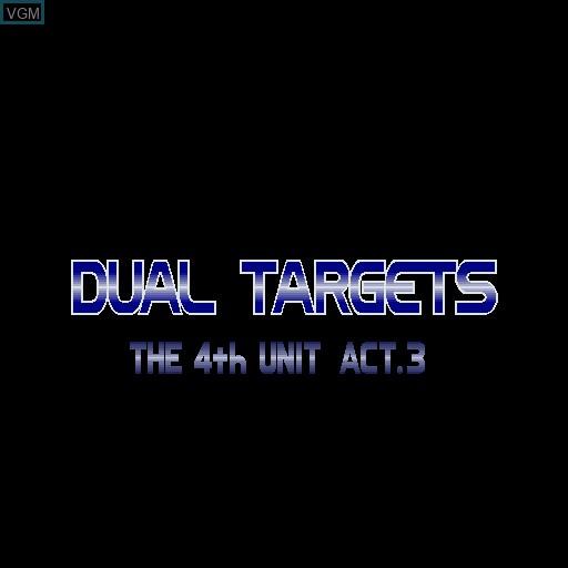 Image de l'ecran titre du jeu 4th Unit Act 3 - Dual Targets sur Sharp X68000