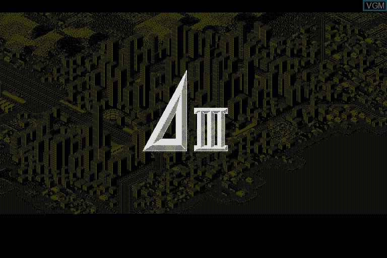 Image de l'ecran titre du jeu A Ressha de Gyoukou III sur Sharp X68000