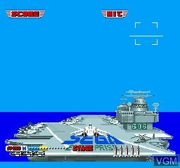 Image du menu du jeu After Burner sur Sharp X68000