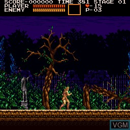 Image in-game du jeu Akumajou Dracula sur Sharp X68000