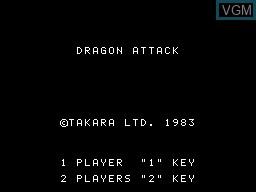 Image de l'ecran titre du jeu Dragon Attack sur Sord-M5