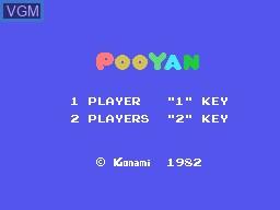 Image de l'ecran titre du jeu Pooyan sur Sord-M5