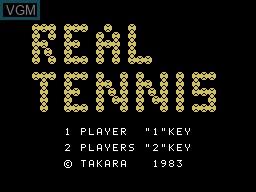 Image de l'ecran titre du jeu Real Tennis sur Sord-M5