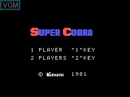 Image de l'ecran titre du jeu Super Cobra sur Sord-M5