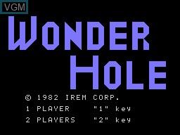 Image de l'ecran titre du jeu Wonder Hole sur Sord-M5