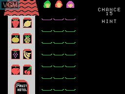 Image du menu du jeu Fruit Search sur Sord-M5