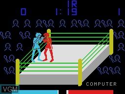 Image in-game du jeu Heavy Boxing sur Sord-M5